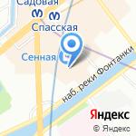 Киоск по продаже бытовой химии на карте Санкт-Петербурга
