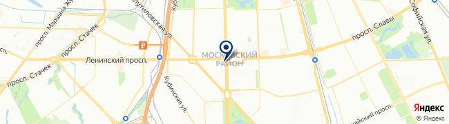 Расположение клиники «Московское» отделение «Скандинавия» на Московском проспекте