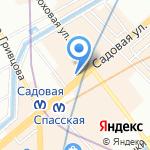 Булочная на карте Санкт-Петербурга