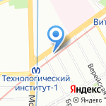 Цаца на карте Санкт-Петербурга