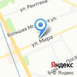 Средняя общеобразовательная школа №80 с углубленным изучением английского языка на карте Санкт-Петербурга