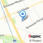 Муниципальное образование муниципальный округ Посадский на карте Санкт-Петербурга