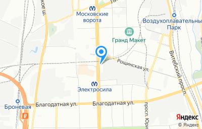 Местоположение на карте пункта техосмотра по адресу г Санкт-Петербург, пр-кт Московский, д 154