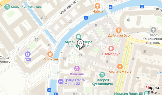 Pushka INN. Схема проезда в Санкт-Петербурге