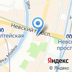 Шаполе на карте Санкт-Петербурга