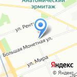 На Монетной на карте Санкт-Петербурга