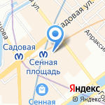Французская миля на карте Санкт-Петербурга