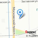 Вояджер на карте Санкт-Петербурга