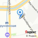 Световые вывески на карте Санкт-Петербурга