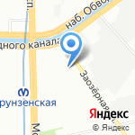 Нефтехим-Балт на карте Санкт-Петербурга