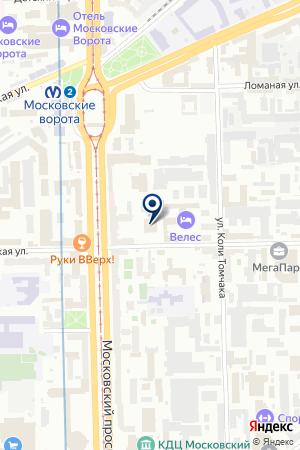 Цитадель на карте Санкт-Петербурга