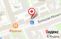 Схема проезда до компании Еврокарта в Санкт-Петербурге