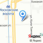 Делайн на карте Санкт-Петербурга