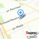Петроград-1 на карте Санкт-Петербурга