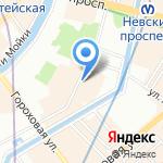 Роза Ветров на карте Санкт-Петербурга