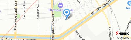 Школа парикмахерского искусства Павла Баженова на карте Санкт-Петербурга