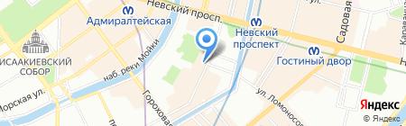 Курс Тревел на карте Санкт-Петербурга