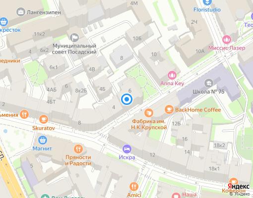 Товарищество собственников жилья «Посадская 6» на карте Санкт-Петербурга