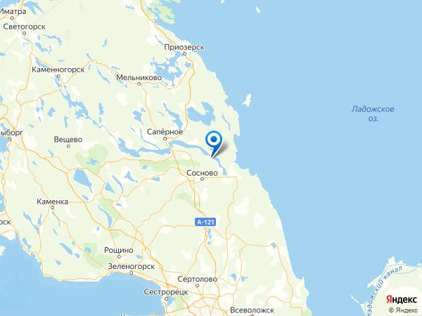 коттеджный посёлок Водный Мир на карте