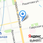 Каньон на карте Санкт-Петербурга