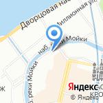 Модулор на карте Санкт-Петербурга