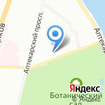 Итис на карте Санкт-Петербурга