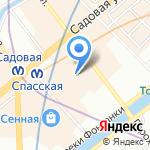 Атлант на карте Санкт-Петербурга