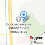 Новодевичье кладбище на карте Санкт-Петербурга