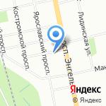 Полярная звезда СПБ на карте Санкт-Петербурга