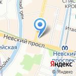 Огни столицы на карте Санкт-Петербурга