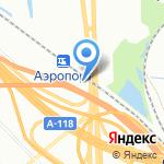 Аэропорт на карте Санкт-Петербурга