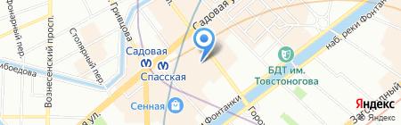Сфинкс на карте Санкт-Петербурга