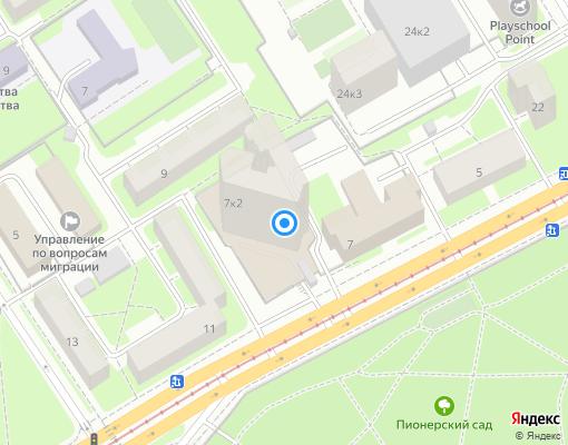 Товарищество собственников жилья «Сердобольская 7-2» на карте Санкт-Петербурга