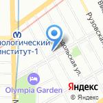 Бакерай на карте Санкт-Петербурга