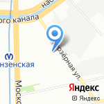 Чайковский текстиль на карте Санкт-Петербурга