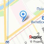 Клиника термических поражений на карте Санкт-Петербурга