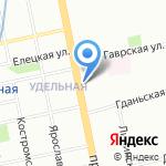 Счастливый Взгляд на карте Санкт-Петербурга