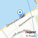 Миллионная 17 на карте Санкт-Петербурга