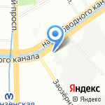 БЕРЛИН на карте Санкт-Петербурга