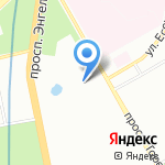 Петромонолит на карте Санкт-Петербурга