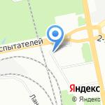Невский луч на карте Санкт-Петербурга