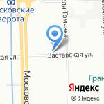 Аквамарин на карте Санкт-Петербурга
