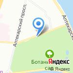Азбука Сада на карте Санкт-Петербурга