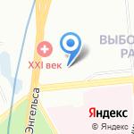 Семейный Институт Спорта и Отдыха на карте Санкт-Петербурга