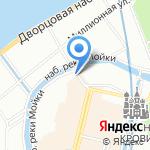 Марки Петербурга на карте Санкт-Петербурга