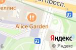 Схема проезда до компании Starbucks в Санкт-Петербурге