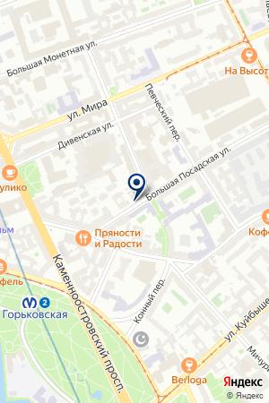 ФИЛИАЛ ПЕТРОГРАДСКОГО РАЙОНА № 10 на карте Санкт-Петербурга