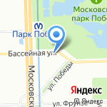 Киоск по ремонту обуви на карте Санкт-Петербурга