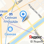 Роза Тур на карте Санкт-Петербурга