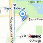Ласточка на карте Санкт-Петербурга